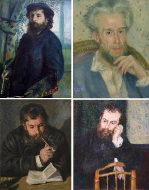 Portrait de Claude Monet, peintre 1875、Bildnis Victor Chocquet, um 1876、Claude Monet The Reader 1872、Alfred Sisley 1876