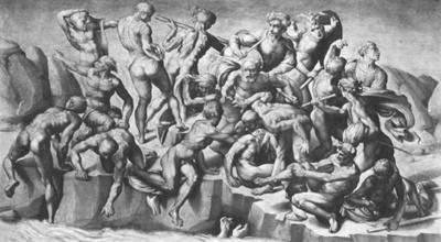 Cassina Savasi (taslagin bir bolumu), 1505, Karton, Ozel Kolleksiyon