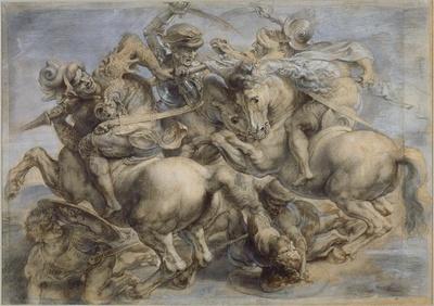 de Vinci - La Bataille dAnghiari dit aussi Le Combat pour létendard
