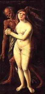 Hans Baldung Grien, La jeune Fille et la mort, 1517年 Bâle, Kunstmuseum, バル(バーゼル)美術館、ハンス・バルドゥング・グリーン、 Hans Baldung Grien (1484-1545)