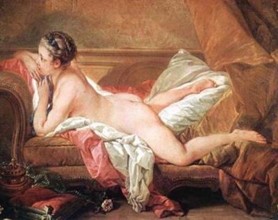 ソファーに横たわる裸婦(黄金のオダリスク、ルイーズ・オマフィーの肖像)