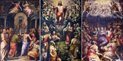 左右:Giorgio Vasari、中央:Giovanni Stradano