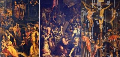 left:Jacopo Coppi detto 'del Meglio'   center:Giorgio Vasari  right:Santi di Tito