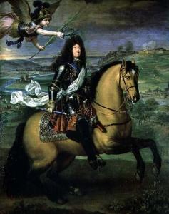 Equestrian portrait louis xiv 1692