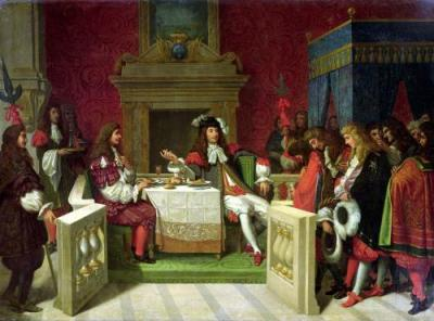 Moliere dining with Louis XIV 1857 Jean Auguste Ingres