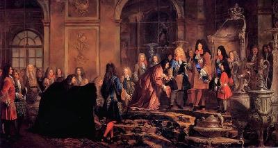 Réparation faite à Louis XIV par le doge de Gênes dans la Galerie des Glaces de Versailles (par Charles Le Brun, château de Versailles)