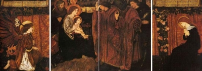 Triptych : the Adoration of the Kings : The Annunciation