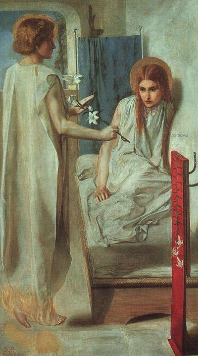 Ecce Ancilla Domini !   The Annunciation(1849-50)   tate