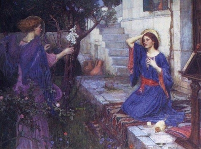 John William Waterhouse - The Annunciation(1914), private collection