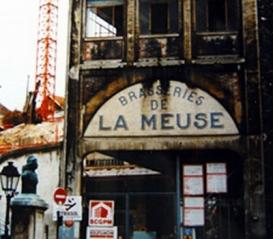 Demolition de la brasserie en 1985