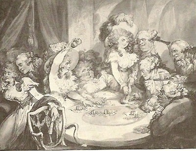 A Gambling Table at Devonshire House 1791 Thomas Rowlandson