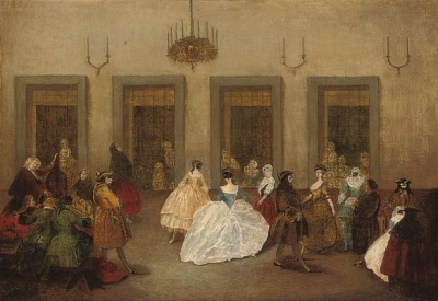 Manner of Pietro Longhi The ballroom dance