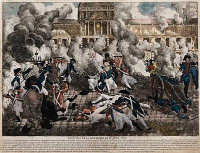Tuileries, prise, 1792