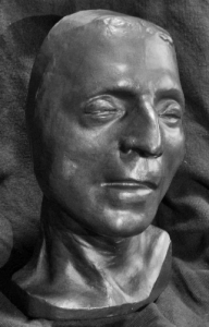 Jean-Paul Marat death mask from the authors private collection