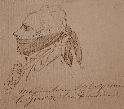 Maximilien Francois Marie Isidore de Robespierre by Jacques-Louis David