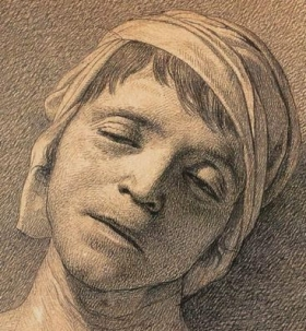 Head of the Dead Marat - David, Jacques-Louis - Neoclassicism-2