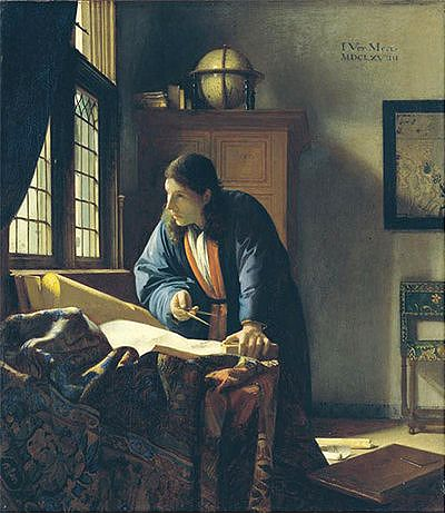 The Geographer by Johannes Vermeer