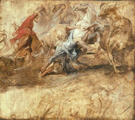 Oil sketch for the Lion Hunt (1621-22)