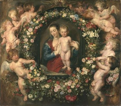 Madonna in a Garland of Flowers (1616-17)