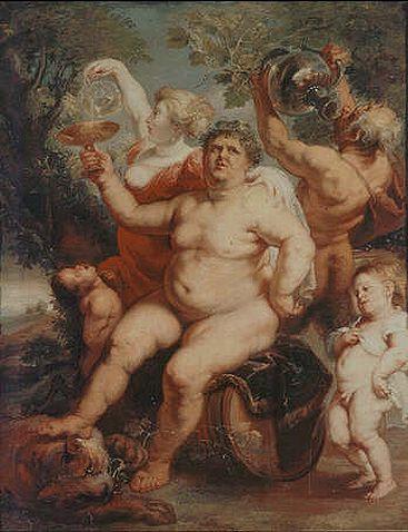Bacchus astride a Barrel