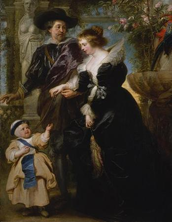 Rubens, His Wife Helena Fourment (1614?1673), and Their Son Peter Paul (born 1637)-1