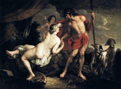 Venus en Adonis door Theodor van Thulden