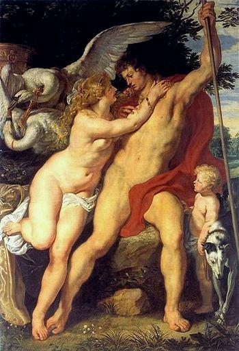 Peter Paul Rubens. Venus and Adonis, c. 1610 museum kunst palast, Dauerleihgabe der Kunstakademie
