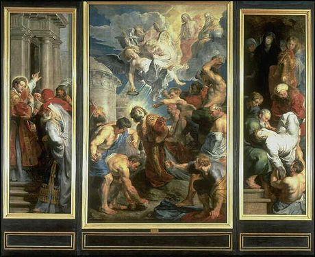 Le Martyre de saint Etienne ; Lapidation de saint Etienne ; Prédication de saintEtienne ; La Mise au tombeau de saint Etienne ; Annonciation ; Ange de lAnnonciation