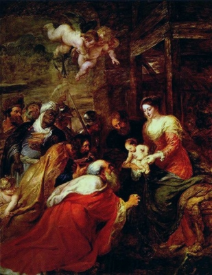 The Adoration of the Magi 1634 Kings College Chapel, Cambridge
