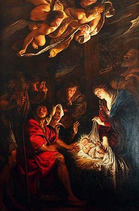 L'adorazione dei pastori, Peter Paul Rubens (1577-1640), Pinacoteca Civica, Fermo (Ascoli Piceno)