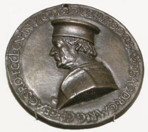 Sperandio, medaglia di federico da montefeltro, 1482