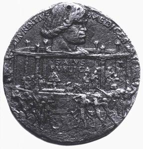 Bertoldo di giovanni, medaglia della congiura dei pazzi, lato di giuliano de medici, 1478-2