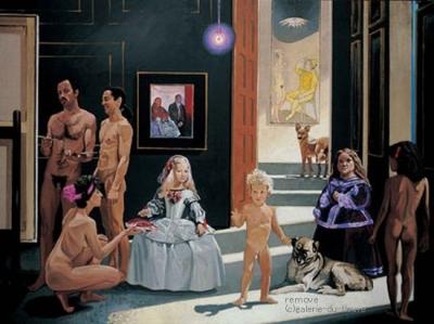 Double éclairage sur l'Occident (Velasquez et Picasso), 1987