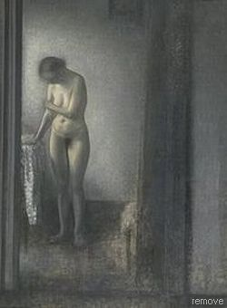 Vilhelm Hammershøi, Female model, 1909-10