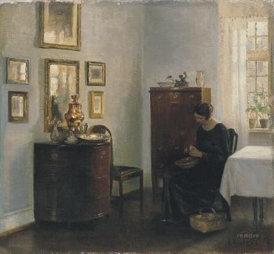Mujer con frutero Carl Holsøe  Museo Thyssen-Bornemisza