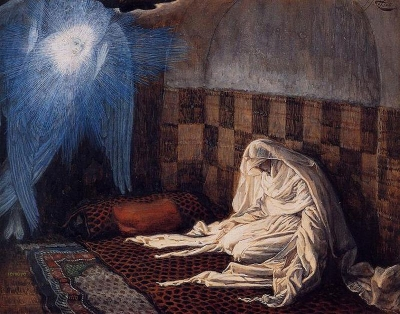 James Tissot (French, 1836-1902) The Annunciation from the series The Life of Christ (1894) Brooklyn Museum of Art, New York