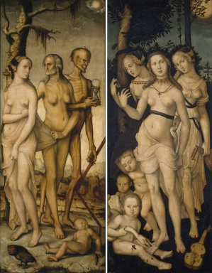Three Ages of Man and Three Graces (1539) - Hans Baldung Museo del Prado, Madrid プラド美術館