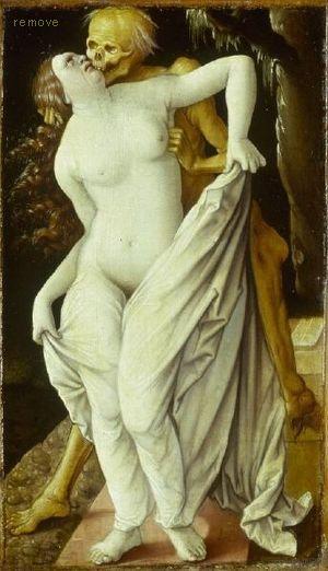 Hans Baldung gen. Grien Der Tod und die Frau,  1520-25 Kunstmuseum Basel