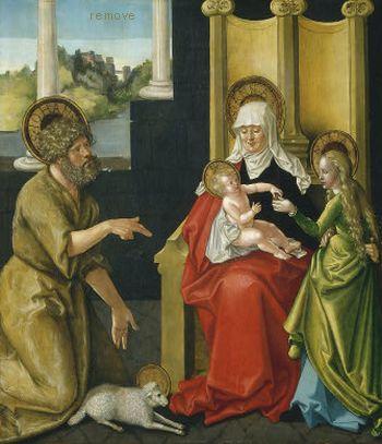 Saint Anne with the Christ Child, the Virgin, and Saint John the Baptist, c. 1511