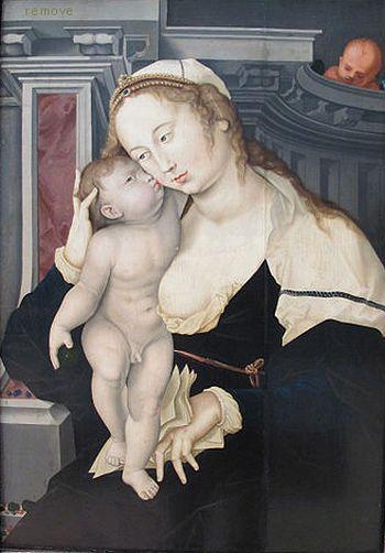 Hans Baldung after Jean Gossart, 'Virgin and Child', limewood panel, 99 x 68 cm © Nuremberg, Germanisches Nationalmuseum