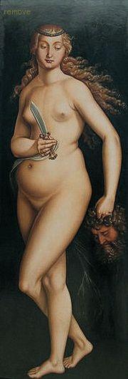Hans Baldung, genannt Grien - Judith mit dem Haupt des Holofernes (1525)