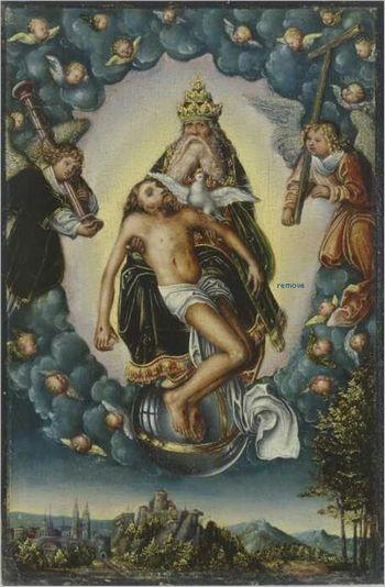 The Holy Trinity about 1516 - 1518 Werkstatt Lucas Cranach der Ältere Staatliche Kunstsammlungen Dresden