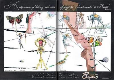 Bryans Hosiery ad Salvador Dalí