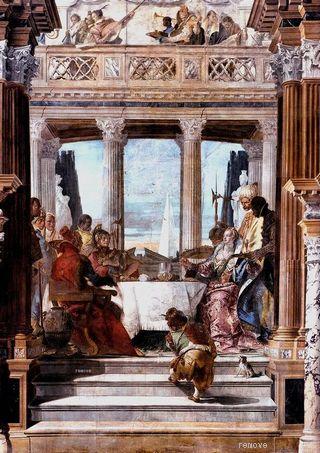 Tiepolo Palazzo Labia Il banchetto di Cleopatra