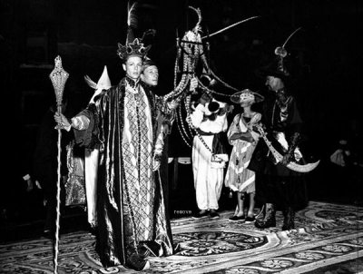 In the retinue of Arturo Lopez-Willshaw as Emperor of China