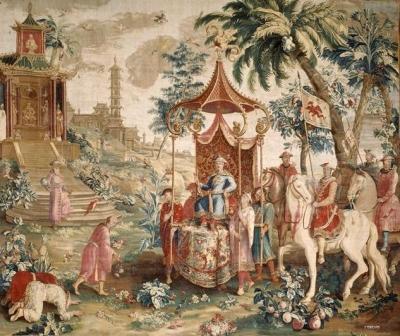 Tenture du prince chinois : le voyage de lEmpereur 1688-1690 Guy-Louis Vernansal