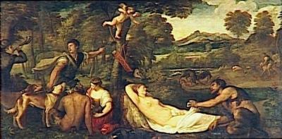 LA VENUS DU PARDO ; DIT A TORT JUPITER ET ANTIOPE VECELLIO Tiziano, LE TITIEN musée du Louvre département des Peintures