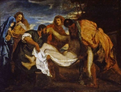 Fantin-Latour Henri, Sepoltura dopo Tiziano, 1872, Fitzwilliam Museum
