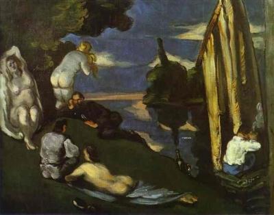 Paul Cézanne, Pastorale (Idylle), 1870 Musée d'Orsay