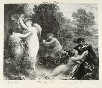 Henri Fantin-Latour Tannhäuser--Venusberg, 1876, lithograph